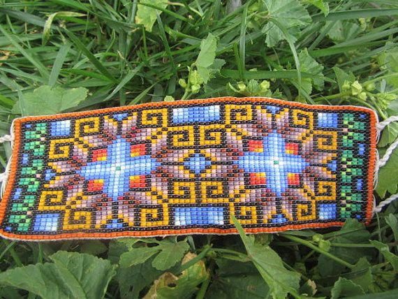 Ethnic Mexican Art huichol beadwork by MAXICA on Etsy, $45.00