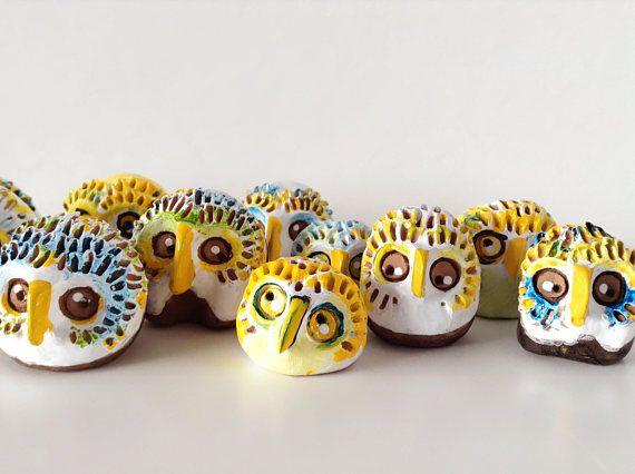 Miniature ceramic owls