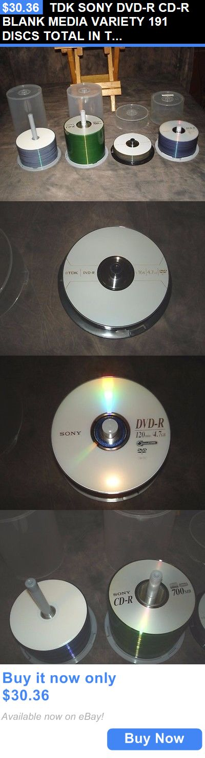 CD DVD and Blu-ray Discs: Tdk Sony Dvd-R Cd-R Blank Media Variety 191 Discs Total In Towers BUY IT NOW ONLY: $30.36