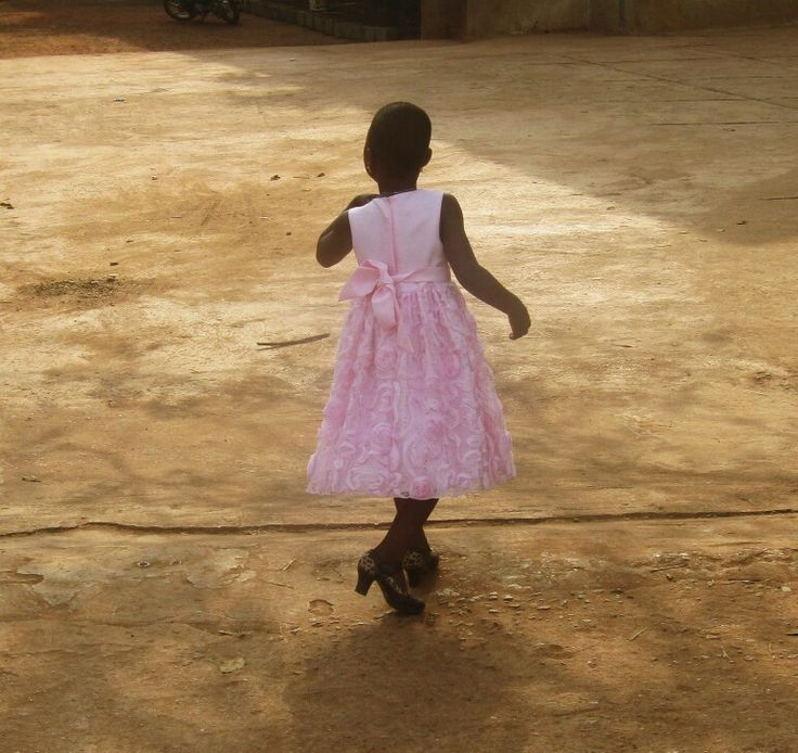 """ - I am a princess. All girls are. Even if they live in tiny old attics, even if they dress in rags, even if they aren't pretty, or smart, or young, they're still princesses. - all of us!"" ( Little princess) (photo: Ketou, Benin)"