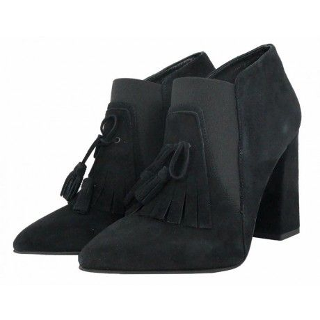 Scarpe col tacco Cafè Noir Donna #Scarpe #tacco #camoscio #donna #CafèNoir #Nero