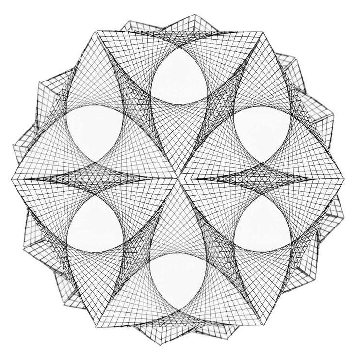Straight Line String Art : Best borduren op papier images on pinterest string
