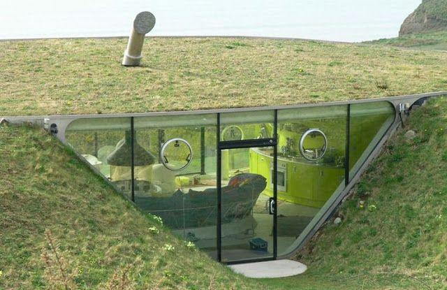9 Design Rumah Bawah Tanah Untuk Inspirasi Anda Rumah Bawah Tanah Arsitektur Lanskap Earthship