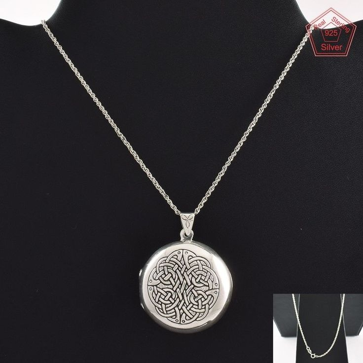 Locket With Chain 925 Sterling Silver Jewelry Necklace NK2952…