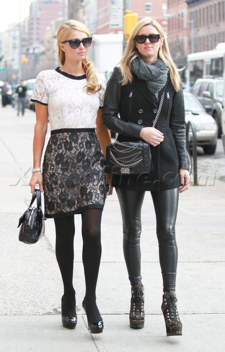 Nicky Hilton Paris Hilton twins blonde shopping fashion