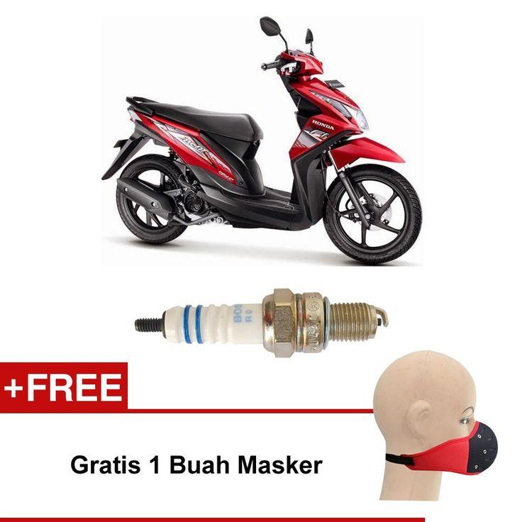 Bosch Busi Sepeda Motor Honda Beat UR5DC (2 Pcs) 0242045005 - Free Masker  Kuat & Tahan Lama, Standard Pabrikan (OE like), Tidak Cepat Kering, Busi Berkualitas ORIGINAL dari BOSCH  http://klikonderdil.com/busi-motor/1219-bosch-busi-sepeda-motor-hoda-beat-ur5dc-2-pcs-0242045005-free-masker.html  #bosch #busi #busimotor #busiterbaik #hondabeat