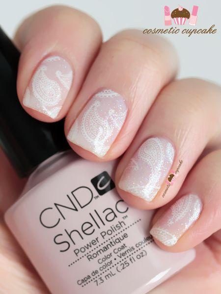 Romantique paisley CND Shellac manicure (via Bloglovin.com )