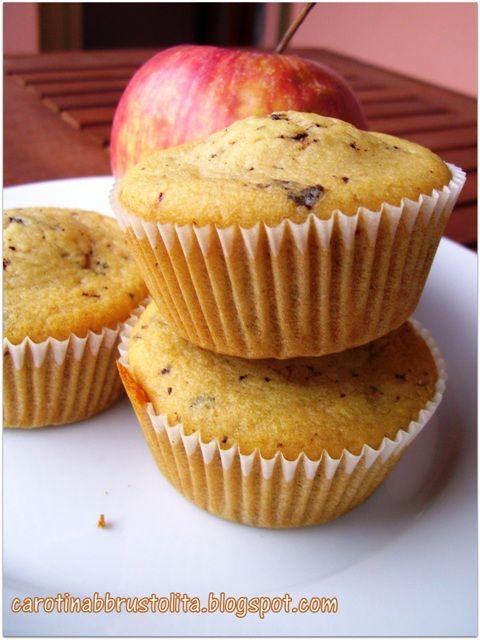 Muffin con mela frullata e cioccolato NO BURRO