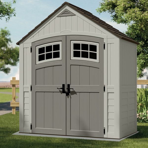 youll love the cascade 7 ft 5 in w x 3 ft 11 in d plastic storage shed at wayfairca great deals on all outdoor products with free shipping on most