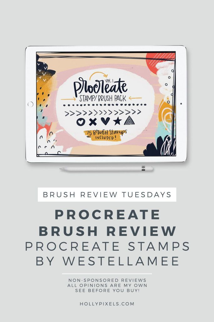 With this week's Procreate Brush Review I'm going to show you this set of quirky hand drawn style brush stamp for Procreate. This set is by West Ellamee and can be purchased on Creative Market. #procreate #procreatelettering #ipadlettering #hollypixels #creativemarket https://hollypixels.com/brush-stamps-for-procreate-by-west-ellamee-procreate-brush-review-tuesdays/?utm_campaign=coschedule&utm_source=pinterest&utm_medium=Holly McCaig | Holly Pixels Lettering Artist&utm_content=Brus