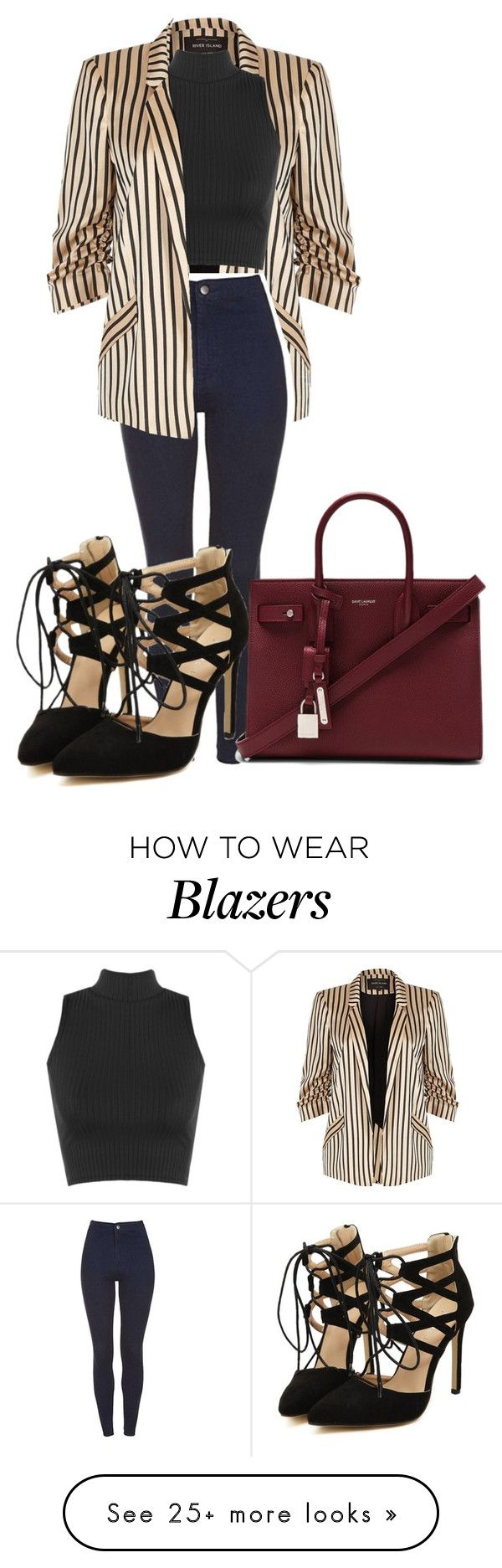 """Sem título #1158"" by army-forever on Polyvore featuring River Island, WearAll and Yves Saint Laurent"