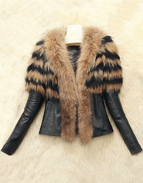 Collar Faux Fur Embellished Jacket