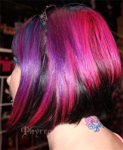 Pink Purple Black and Blue Hair melange. The Best in Bright Hair from Premiere Orlando! Click through to see more.