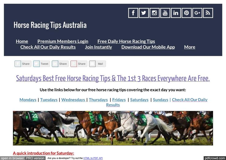 Saturdays July 29th Free Horse Racing Tips