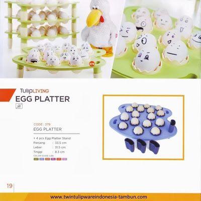 Egg Platter Twin Tulipware