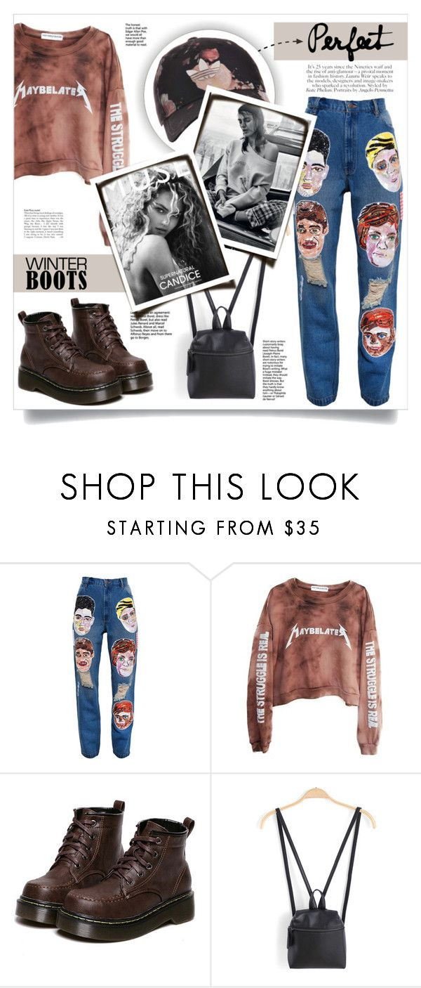"""""""#264) VINTAGE IS BACK!"""" by fashion-unit ❤ liked on Polyvore featuring Ashish, High Heels Suicide, WithChic, adidas Originals, vintage, Sweatshirt and winterboots"""