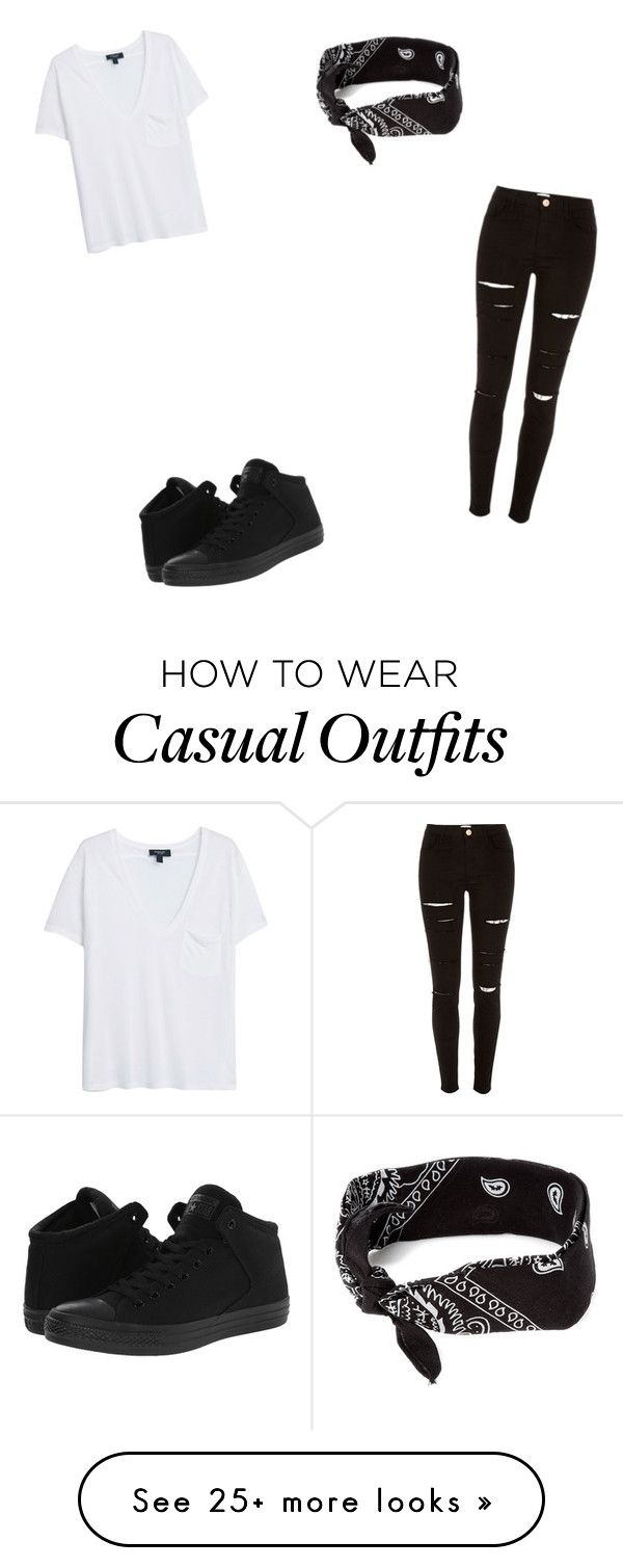 """Casual"" by theycallmepoopey on Polyvore featuring River Island, Converse, claire's and MANGO"