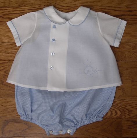 Baby Boy Summer Clothes Kit -- I love this asymmetrical shirt and bubble pants.  And check out that whale!