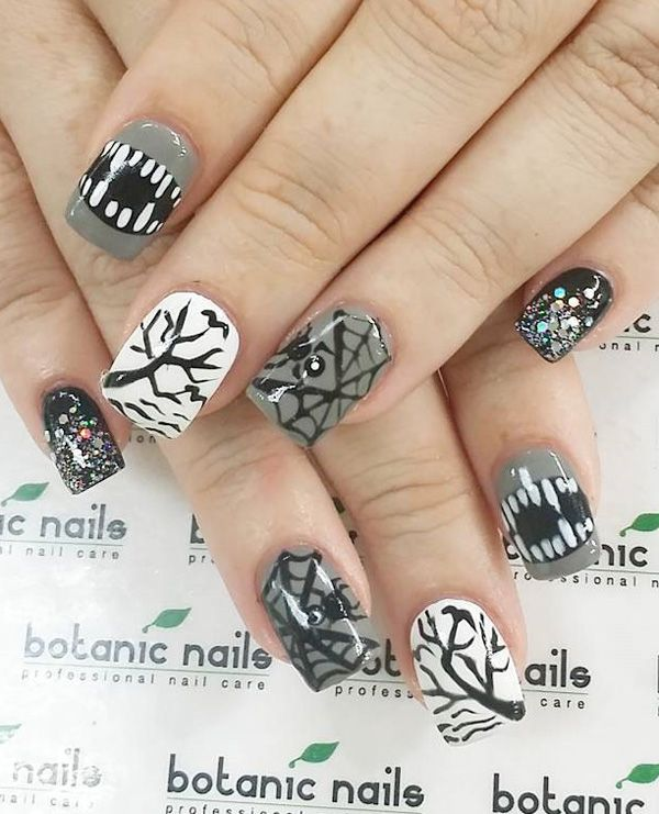Halloween nail art-63 - 65 Halloween Nail Art Ideas  <3 <3