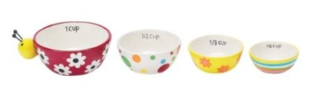 Boston Warehouse Ladybug Garden Measuring Cup, Set of 4: Amazon.com: Home & Kitchen