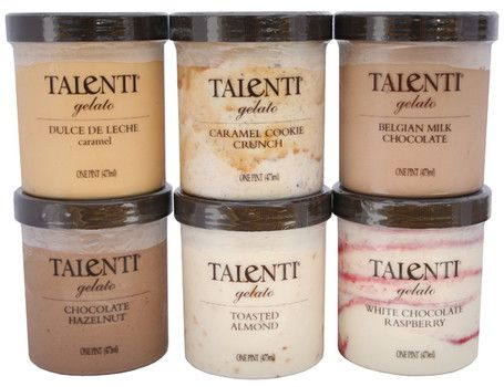 Talenti Gelato--the best!  We've been working our way through all the flavors.