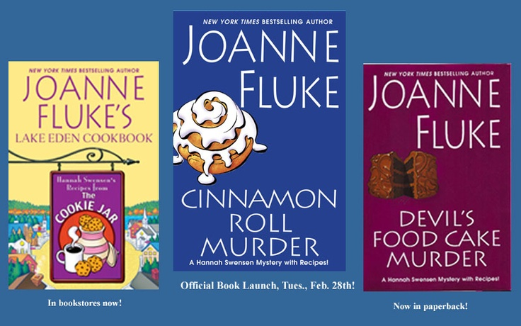 """Reading this series right now. I'm only three in, but they are a great way to unwind and """"turn off"""" my brain at night. :)Funny Stories, Fun Book, Cinnamon Rolls, Cookies Recipe, Cozy Mysteries, Good Books, Easy Reading, Cookie Recipes, Joanne Fluke"""