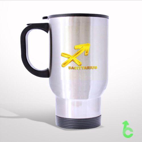 Zodiac Gold Sagittarius Travel Mug