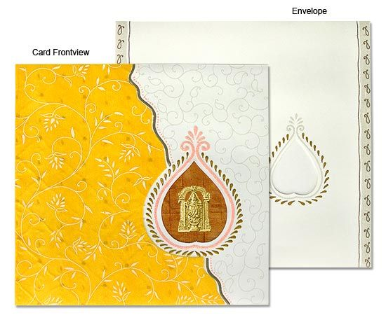 Elegant South Indian Wedding Invitations #WeddingInvitations ...