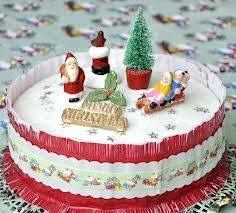 Back in the day What do you mean back in the day - my Xmas cake still has these ornaments on it :)
