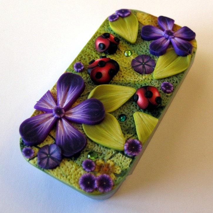 Ladybug Garden Needle Case Slide Top Tin. $14.00, via Etsy.