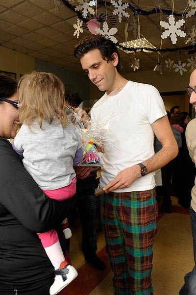 Mika visiting San Raffaele hospital in Milan, Italy, Dec 3, 2010