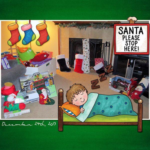 Santa,+Please+Stop+Here! - Scrapbook.com