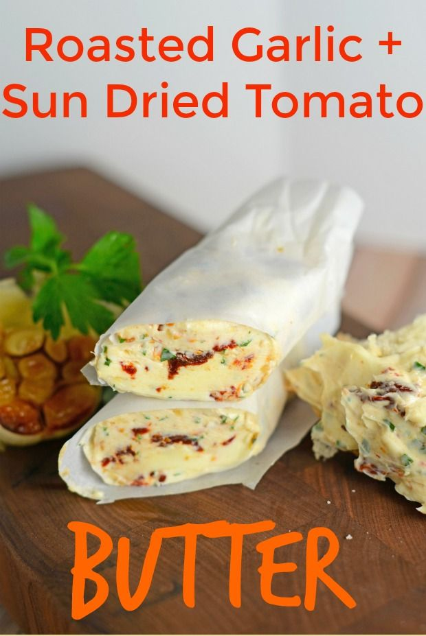 Roasted Garlic and Sun Dried Tomato Butter- An Italian blend of butter, sun dried tomatoes, fresh parsley and roasted…