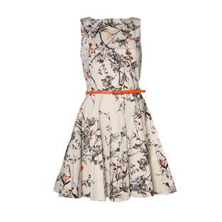 Closet Cream Flower Print Dress