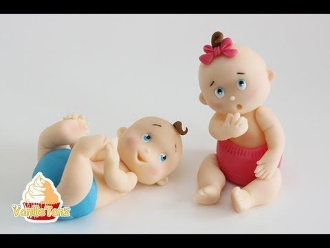 How to make Fondant Baby Cake Topper - YouTube                                                                                                                                                                                 More