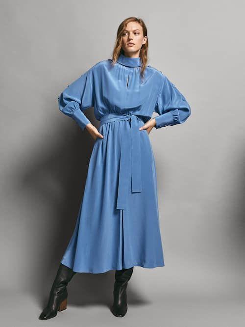 50c2ed40095 LIMITED EDITION BUTTONED 100% SILK DRESS - Women - Massimo Dutti ...