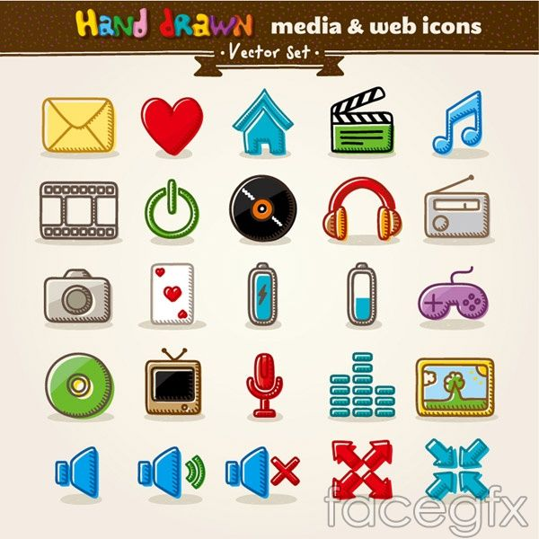Media and Internet icon vector