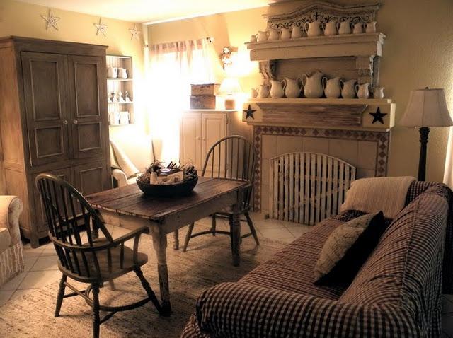 Very cozy!Display Ironstone Pitcher, Primative Ideas, Cozy Room, Decor Ideas, Primitives Decor, Family Rooms, Primitives Country, Primitives Style, Families Room