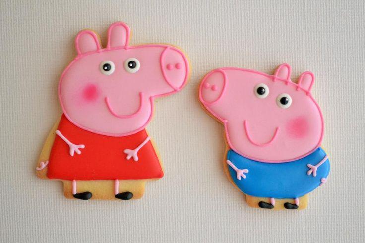 Peppa & George Pig Cookies | Cookie Connection