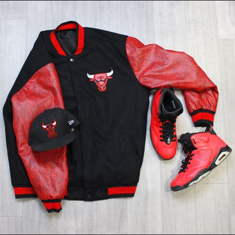 Hey #ChicagoBulls Fans… Do we have a treat for you?! Show off your #NBA pride from head to toe in this #Bulls swag from #PlatosClosetBrampton. // reversible jacket, XL, $45 // hat, size 7 3/8, $10 // | www.platosclosetbrampton.com