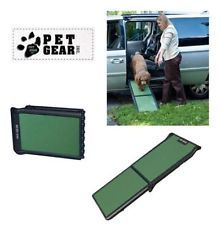 PET GEAR Travel Lite Bi-Fold Dog Car Ramp For Older Dogs, Black/Sage.