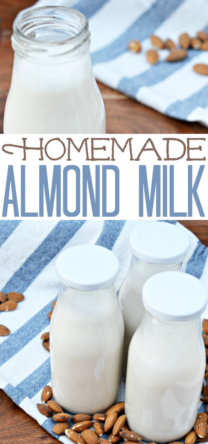 Looking for an alternative to dairy milk? Homemade Almond Milk is a delicious, nutritional option. It's great used in baking, poured in cereal, or enjoyed plain in a tall, cold glass. And it's actually much easier to make than you might think.
