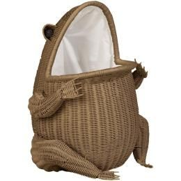 Home Decorators Collection Wicker Frog Clothes Laundry Hamper Small Brown