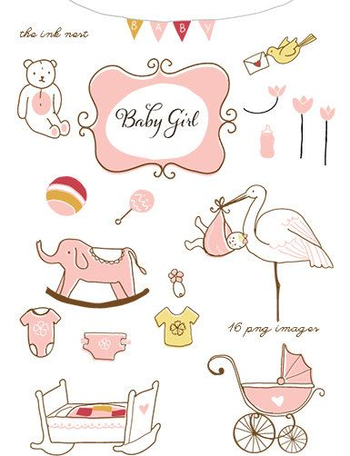 CLIP ART ideas for baby book