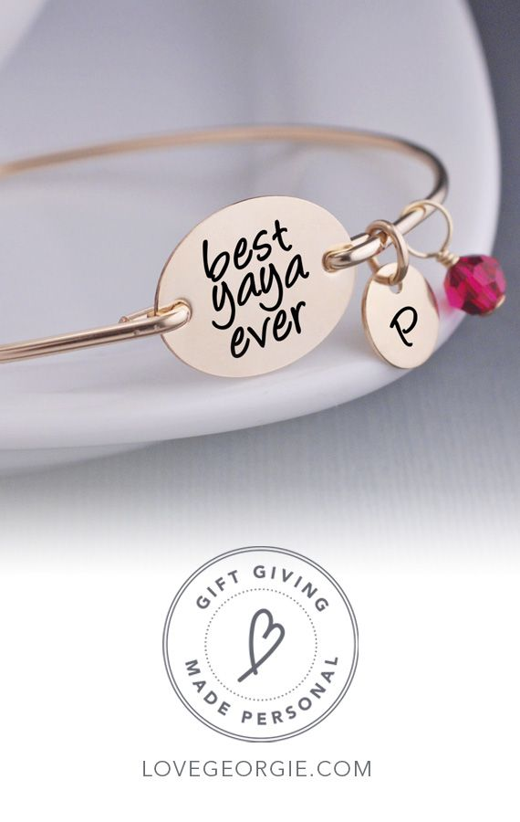209531d5ca32a Best Yaya Ever Bangle Bracelet | Gifting In Style | Grandmother ...