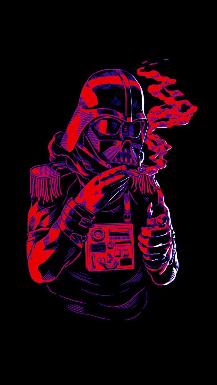 Smoke Break Funky Wallpaper Funny Posters Dark Side Star Wars