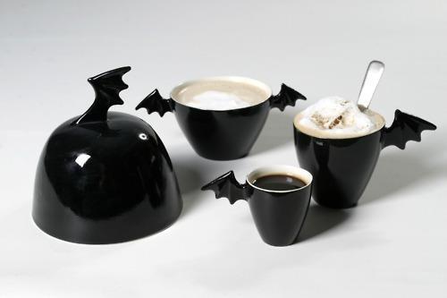 Black bat coffee & tea set