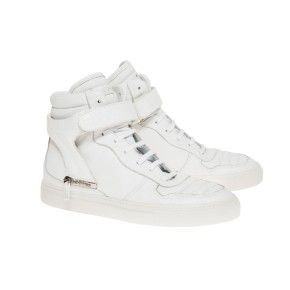 Justin white with white sole and withe padded strap in printed crocodile