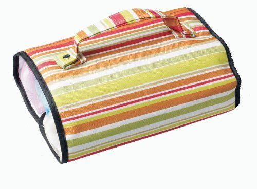"Cosmetic Roll-up Travel Organizer by Cobble Creek. $12.99. Closed 7 1/2"" x 7 1/2"" L. x 3"" H. removable pouch is 2 1/2"" W. x 2 1/2"" H. x 7"" L.. 3 removable pouches. Open size 7 1/2"" W. x 17"" L. This convenient and organizational carrying roll with removable pouches is all you ever need when taking makeup on the go. Open 7 1/2"" W. x 17"" L. Closed 7 1/2"" x 7 1/2"" L. x 3"" H. Each removable pouch is 2 1/2"" W. x 2 1/2"" H. x 7"" L."