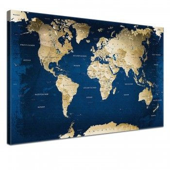 Leinwand Bild Weltkarte Ocean 100 x 70 cm, einteilig, 59,90€, mehrere Größen